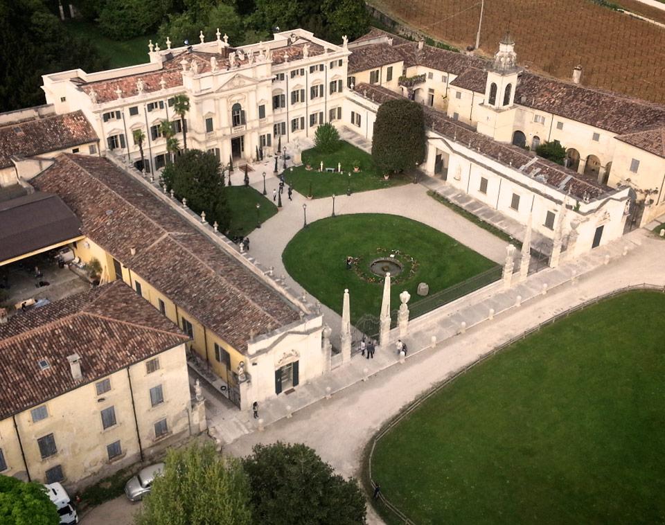 Villa Mosconi Bertani - aerial