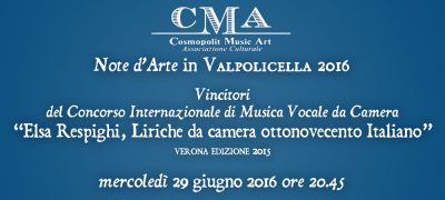 Note d'arte in Valpolicella 2016