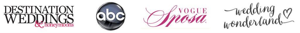 Visto Su Destination Weddings and Honeymoons, Vogue Sposa, ABC TV