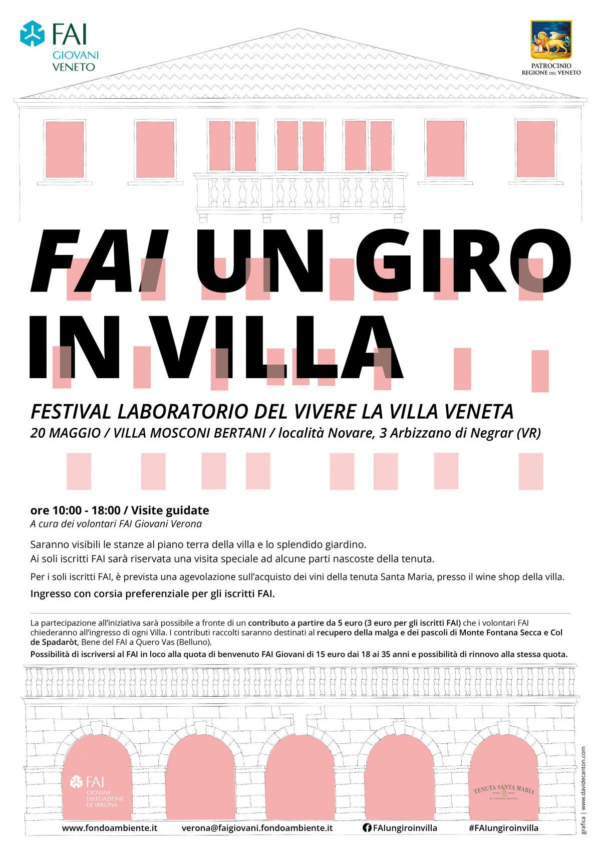 FAI un Giro in Villa Mosconi Bertani Domenica 20 maggio 2018