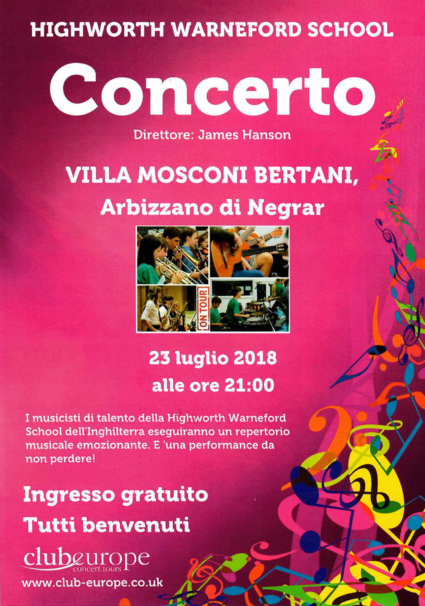 Concerto - Highworth Warneford School - 23 luglio alle 21